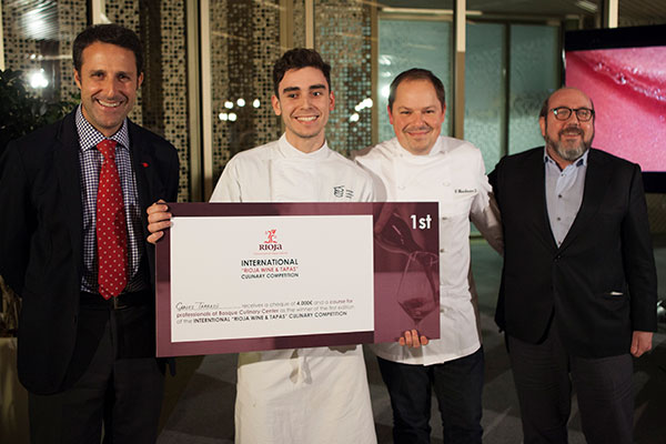 Carles Tarrasó Wins the First Rioja Wine & Tapas International Competition